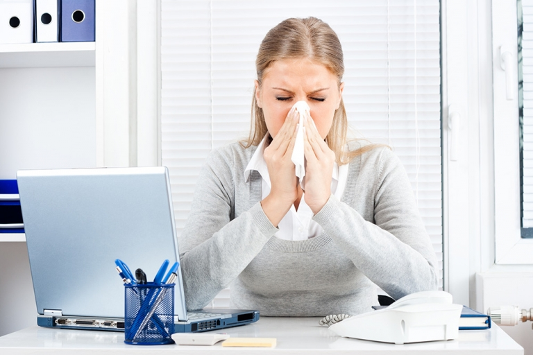 Colds and flu: stop the spread in your office this winter